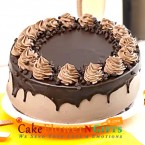send 1 kg eggless cream drop chocolate choco chip cake delivery