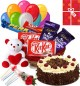 Black Forest Cake Chocolate Teddy Balloons for Any Occasion