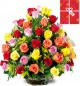 50 Mix Roses Basket