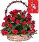 50 Red Roses Basket
