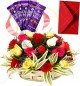 Mix Roses Basket n Chocolates