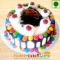 Eggless Half Kg Cadbury Gems Black forest Cake Round Shape