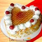 1kg butterscotch heart shape cake