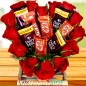 Heart Shape Roses Dairy Milk kit kat Chocolate Bouquet