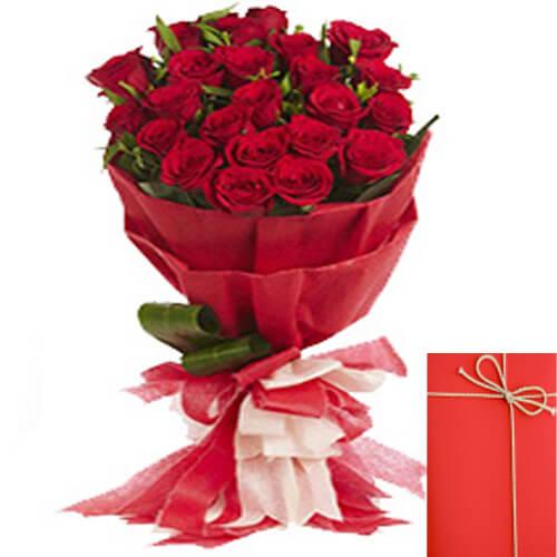 Designer Bouquet of Red Roses