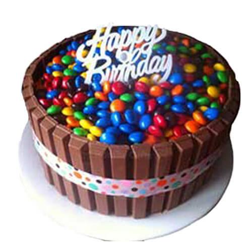 Chocolate Kitkat with Gems Cake