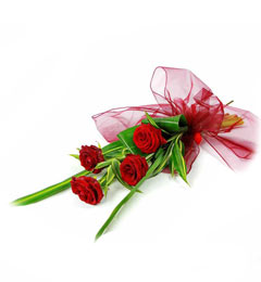 4pcs Red Roses Bunch