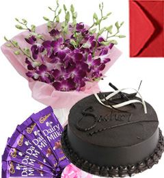 Eggless Chocolate Traffle Cake Orchid Bouquet N Chocolate