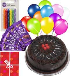 1Kg Truffle Cake n Chocolate Gifts