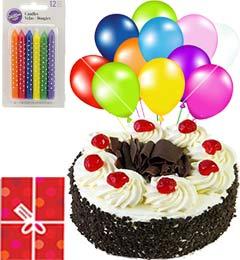 Half Kg Black Forest Cake Mini n Gifts