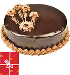 2Kg Chocolate Truffle Cake n Greeting Card
