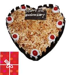 1Kg Butterscotch Heart Shape Cake
