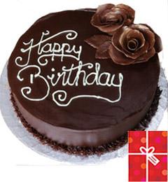 Chocolate Cake n Greeting Card