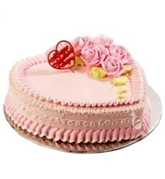 Heart Shape Strawberry Cake Mini 500gms