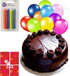 Yummy Eggless Chocolate Truffle Cake N Gifts
