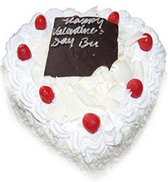 1Kg Heart Shape White Forest Cake