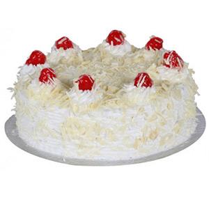 Half Kg White Forest Cake