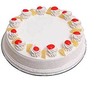 2 Kg Heart Shape Pineapple Cake