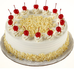 1Kg Eggless White Forest Cake