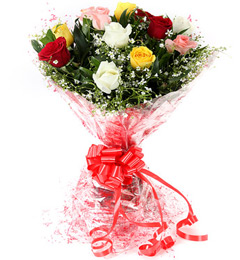 10 Mix Roses Flower Bouquet