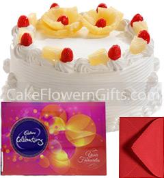 1Kg Pineapple Cake Cadbury Celebration Gift Box