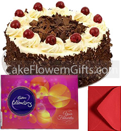1Kg Black Forest Cake Cadbury Celebration Gift Box