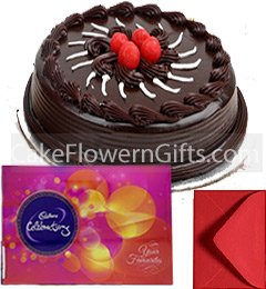 1Kg Chocolate Cake Cadbury Celebration Gift Box