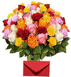 40 Mix Roses Bouquet