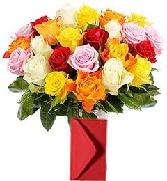 25 Mix Roses Bouquet