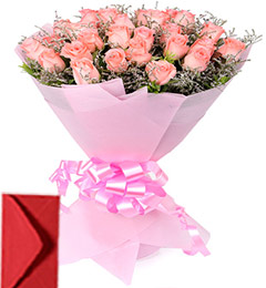 40 Pink Roses Bouquet