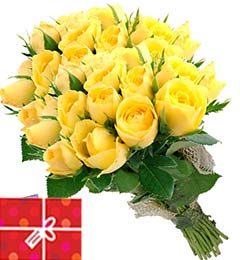 40 Yellow Roses Bouquet