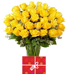 45 Yellow Roses Bouquet