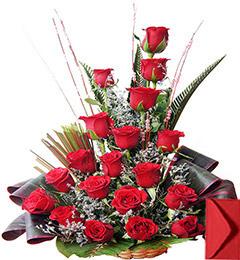 Red Roses Designer Basket