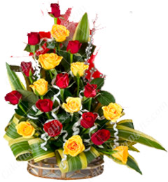 Designer Red n Yellow Flower Bouquet