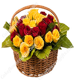 20 Red Yellow Basket Gift