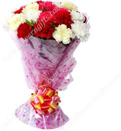 Designer Mix Carnation Flower Bouquet