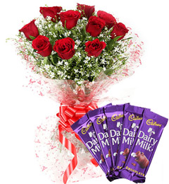 Red Roses Bouquet n Chocolate