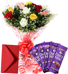 Mix Roses Bouquet N Chocolate