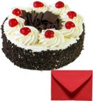 Eggless Half Kg Black Forest with Card