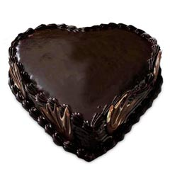 heart truffle shaped cake 500gms
