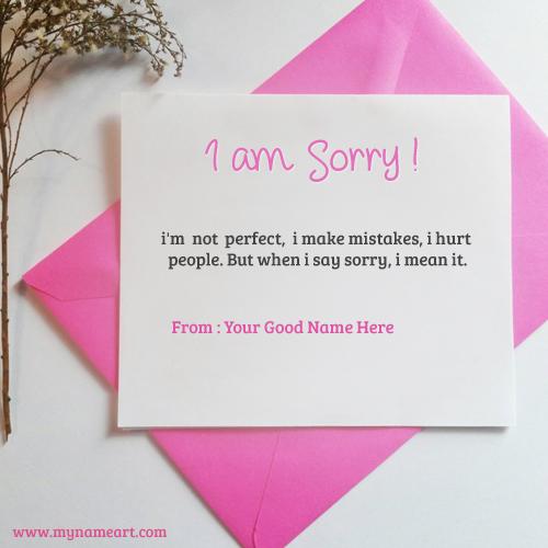 i am sorry greeting card