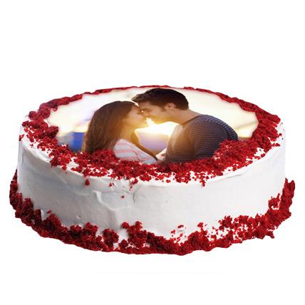 2Kg Red Velvet Photo Cake