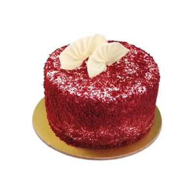 500gms Round Shaped Yummy Red Velvet Cake