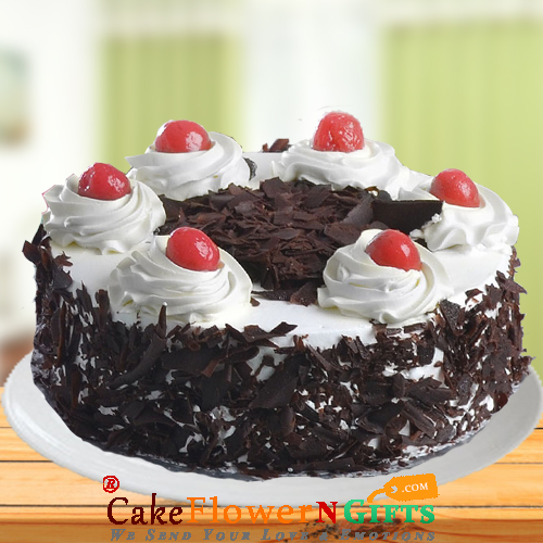 Half Kg Black Forest Fresh Cream Cake