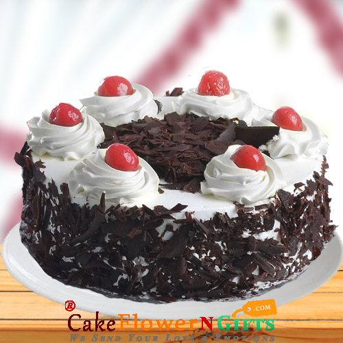 1Kg Black Forest Fresh Cream Cake