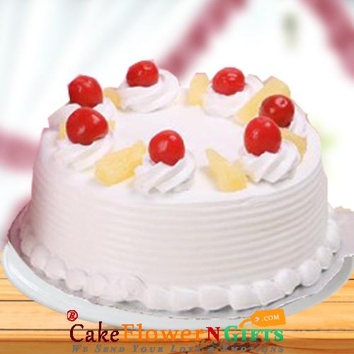 Half Kg Pineapple Fresh Cream Cake