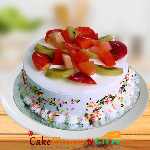 Half kg Fruit Fresh Cake