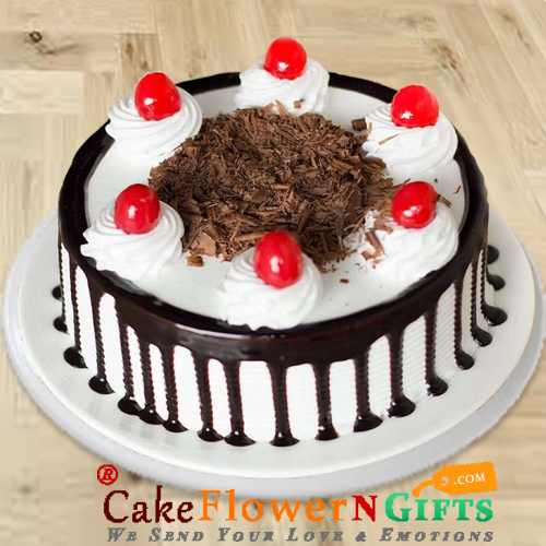 Eggless Black Forest Half Kg Any Occasion