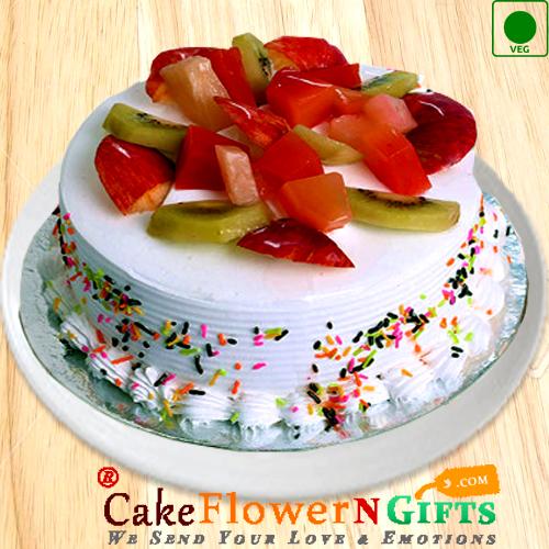 Half Kg Mix Fruit Eggless Cake