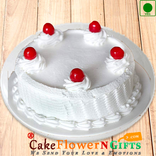 Eggless Vanilla Cake Half Kg Any Occasion